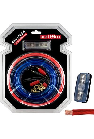 Cable Oto Anfi Kablo Seti Full 8ga 1500W Vakumlu Wattbox