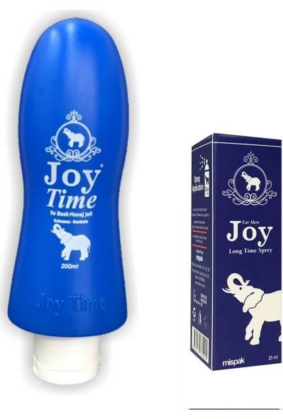 Joy Time Masaj Jeli 200 ml Kokusuz + Joy Time Sprey
