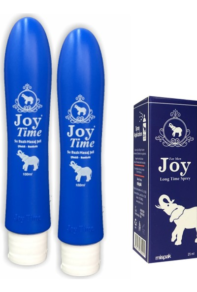 Joy Time Çilekli Masaj Jeli 100 ml 2 Adet + Joy Time Sprey