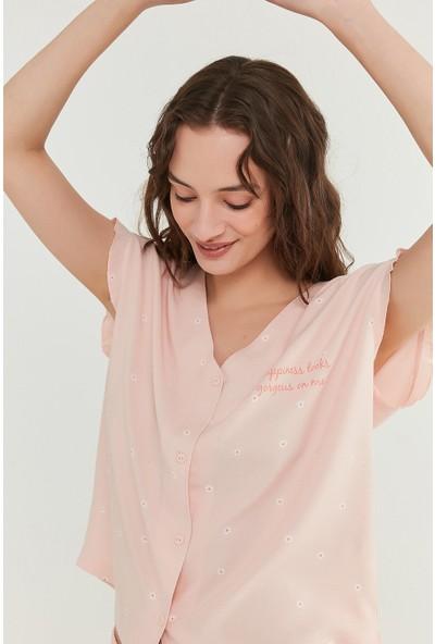 Penti Somon Gorgeous Gömlek Şort Takımı