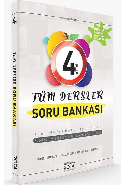 Rota 4. Sınıf Tüm Dersler Soru Bankası-Yeni