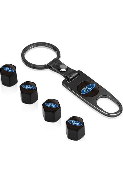 Araba Alışveriş Ford Oto Aksesuar Metal Sibop Kapağı ve Anahtarlık Seti