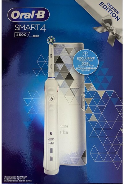 Oral-B Smart 4500 Modern Motif Cross Action Beyaz Şarjlı Fırça