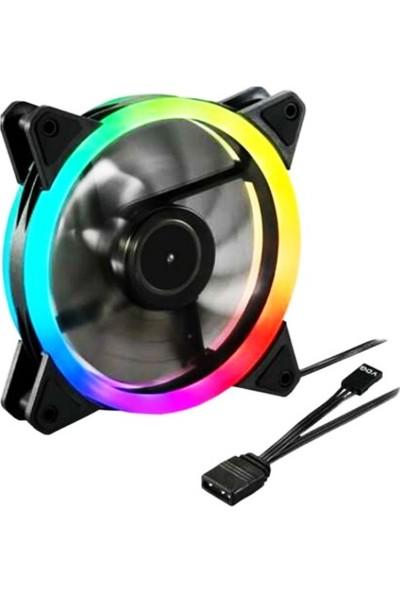 Concord C-892 Rgb 3 Renk Rainbow Gökkuşağı 12CM Kasa Geniş Fan