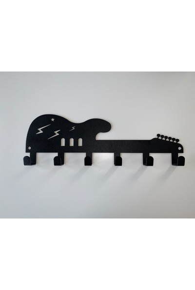 Foccaa Dizayn Metal Kapı Arkası Dekoratif Elbise Askılık Gitar