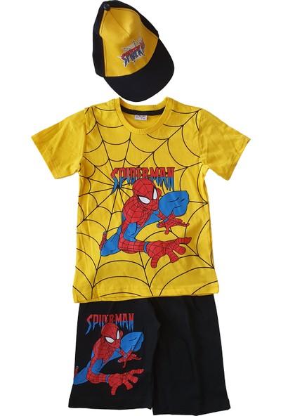 Baby Hil Şapkalı Spiderman 3lü Takım