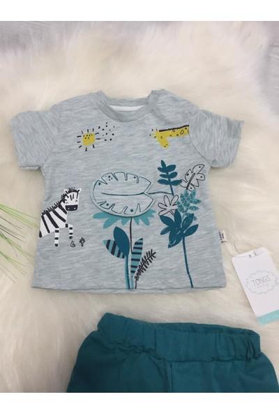 Tongs Baby Zürafalı Ikili Yazlık Bebek Takım