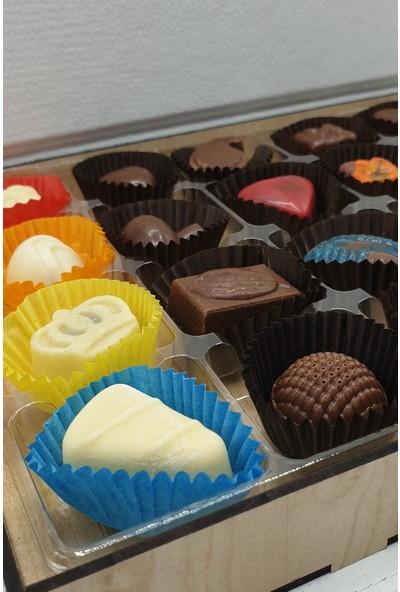 Asırlık 1453 Hediyelik Karma Dolgulu Special Çikolata Ahşap & Deri Kutu 300 gr Krem