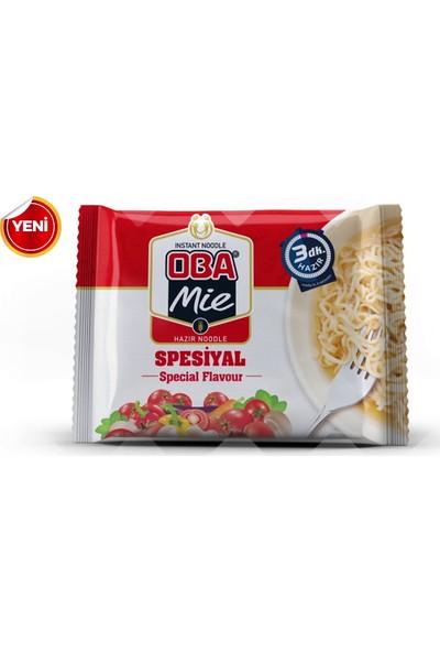 Oba Mie Noodle Hazır Makarna 75 gr x 12 + (5 Adet Çaykur Altın Süzen Poşet Bardak Çay)