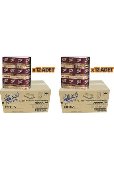 Selpak Professional Extra Z Katlı Dispenser 24LÜ Paket Kağıt Havlu