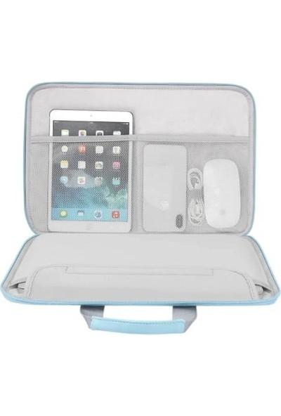 Yukka Mavi Pati Desen 12'' Tablet ve Laptop Çantası