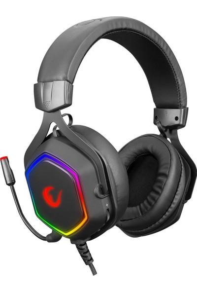 Rampage RM-K50 Select USB 7.1 RGB Mikrofonlu Kulaklık Siyah