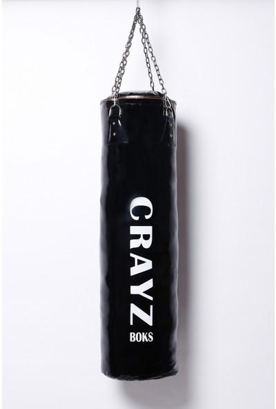 Crayz 100X30 cm Içi Dolu Kolonlu Boks Kum Torbası + Tavan Askı Aparatı