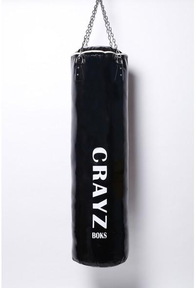 Crayz 120X35 cm Içi Dolu Kolonlu Boks Kum Torbası + Tavan Askı Aparatı