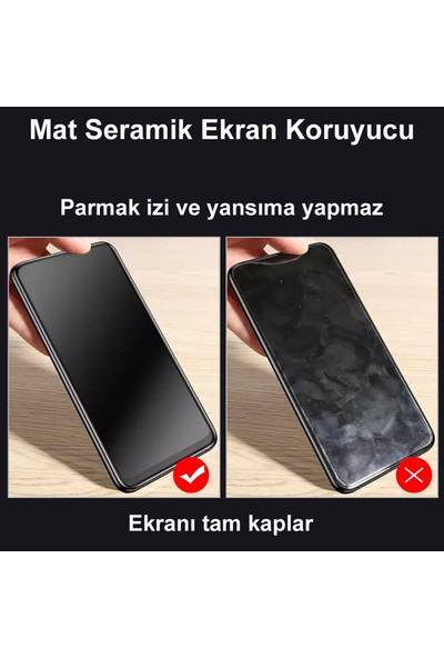 Cepstok Apple iPhone 12 Pro Kırılmaz Cam Mat Seramik Esnek Tam Kaplayan Ekran Koruyucu