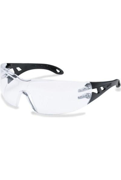 Uvex Pheos 9192.370 Koruyucu Gözlük Gri-Siyah Çerçeve Şeffaf C...