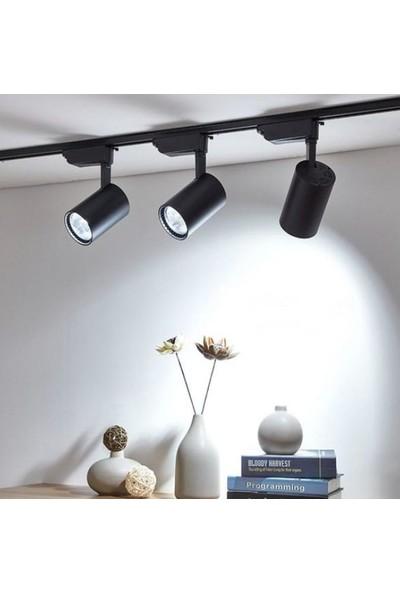 Hero 30W LED Ray Spot 3lü Set -Siyah Kasa -Beyaz Işık 6500K - Beyaz