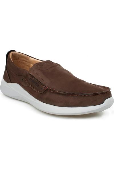 Scooter Büyük Beden Hakiki Deri Kahverengi Erkek Bağcıksız Günlük Ayakkabı X1091NKA