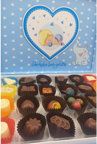 Asırlık 1453 Erkek Bebek Karma Dolgulu Special Çikolata Kutusu 300 gr