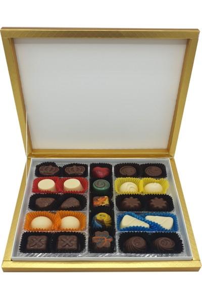 Asırlık 1453 Hediyelik Karma Dolgulu Special Çikolata Kare Kutu 320 gr Gold