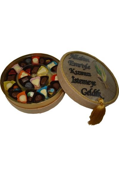 Asırlık 1453 Kız Isteme Karma Dolgulu Special Çikolata Hasır Kutu 400 gr