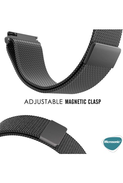 Microsonic Samsung Galaxy Watch 3 45 mm Milanese Loop Kordon Siyah