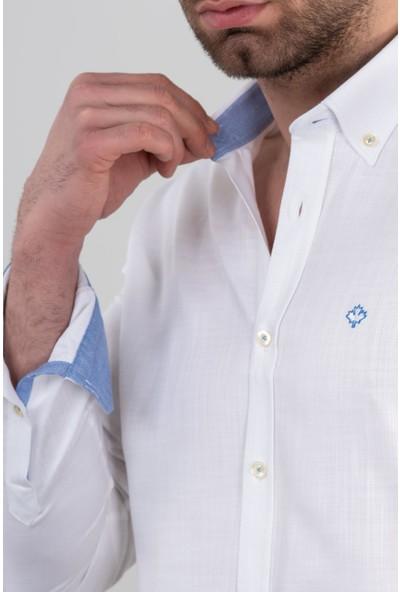 Paul Martin Regular Fit Dokulu Erkek Gömlek