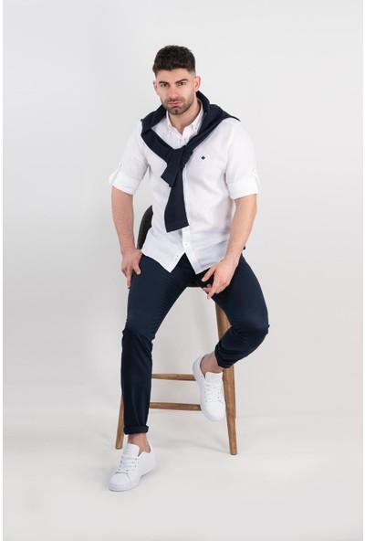 Paul Martin Regular Fit Keten Erkek Gömlek