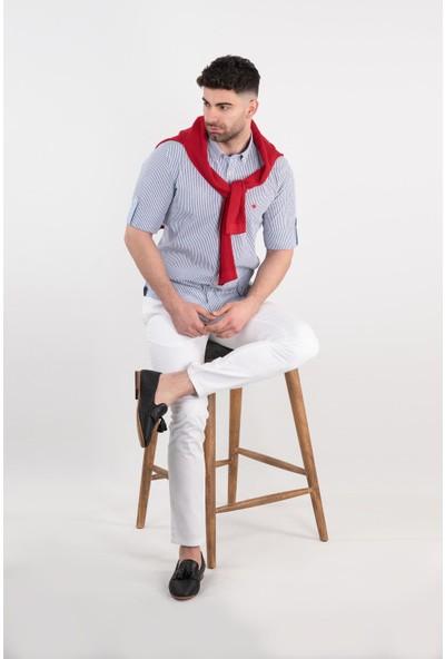 Paul Martin Regular Fit Gofre Kumaş Erkek Gömlek
