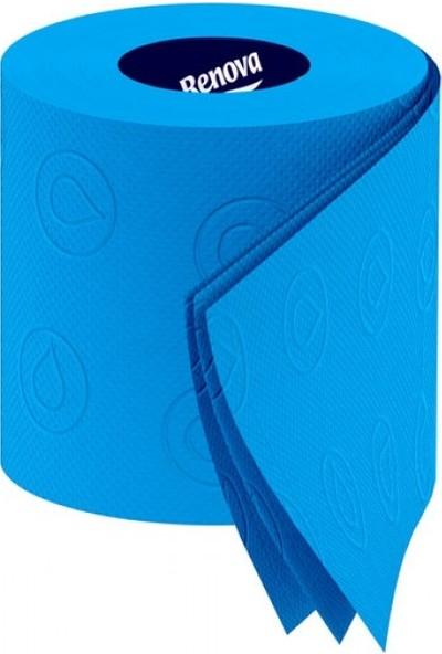Renova Mavi Renkli Tuvalet Kağıdı 3'lü Paket