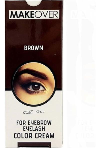 Makeover Magic Kaş Kirpik Boyası-Kahverengi