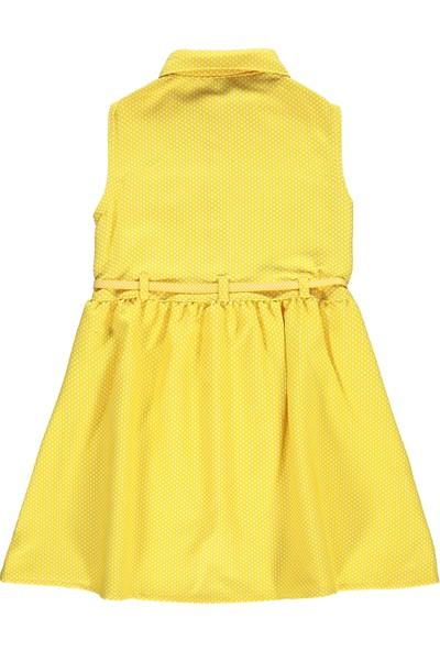 Civil Girls Kız Çocuk Elbise 6-9 Yaş Sarı