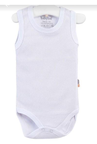 Papyon Baby Kids Erkek Bebek 4lü Zıbın Body Bebek Çıtçıtlı Badi 0-36 Ay