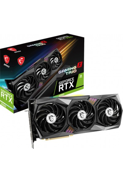 Msı Geforce Rtx 3060 Gaming x Trio 12GB 192 Bit Gddr6 Pcı-E 4.0 Ekran Kartı (RTX-3060-GAMING-X-TRIO-12G)