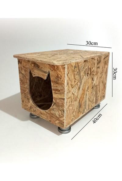 Karma Dış Mekan Plastik Ayaklı Osb Kedi Evi