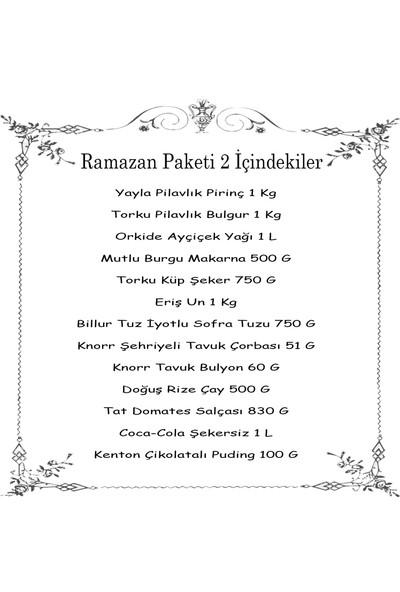 Kaunos Ramazan Erzak Yardım Paketi Kolisi 2021 13 Parça No:2