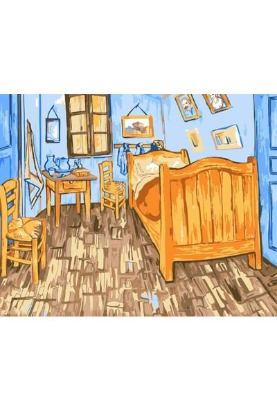 hobi24 Sayılarla Boyama Seti - Numaralı Tablo Boyama 40 x 50 cm - Bedroom