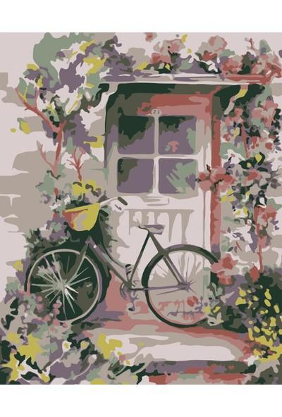 hobi24 Sayılarla Boyama Seti - Numaralı Tablo Boyama 40 x 50 cm - Bisiklet