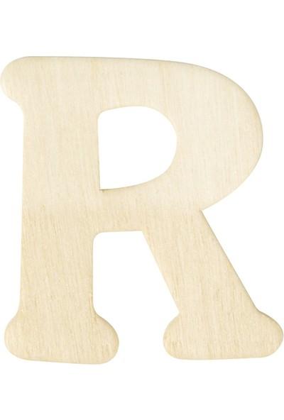 hobi24 Ahşap Harf 3 x 4 cm - R