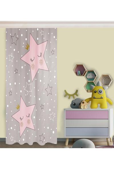 Homessa Sevimli Yıldız Hçi19 Çocuk Odası Fon Perde