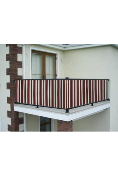 Ceylan Home Balkon Demiri Perdesi Bağcıklı Kahverengi 400X80 Kalın