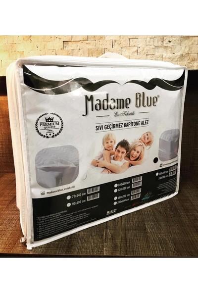 Madame Blue Kapitone Fitted Su Sıvı Geçirmez Yatak Koruyucu