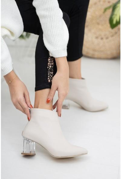 Moda Değirmeni Kadın Şeffaf Topuk Bot MD1050-116-0001