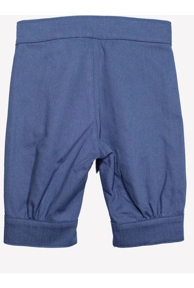 OZMOZ Kız Bebek Baharlık Büzgülü Mavi Pantolon