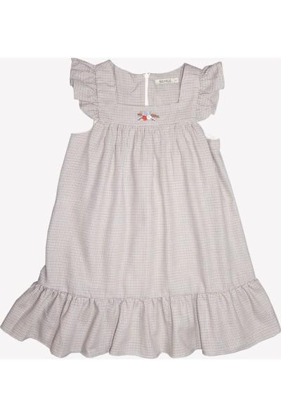 OZMOZ Çiçek Nakışlı Baharlık Kız Çocuk Jile Elbise