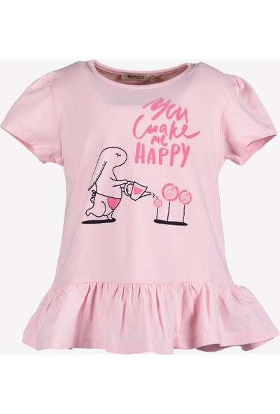 OZMOZ Etek Ucu Fırfırlı Kız Çocuk Tunik -T-Shirt