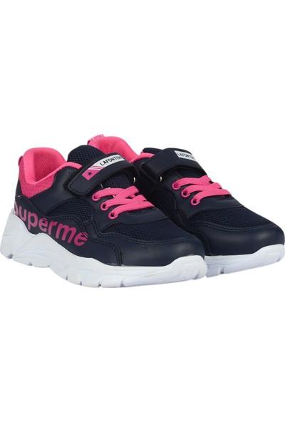 Lafonten 0515 Lacivert Cırtlı Kız Çocuk Spor Ayakkabı