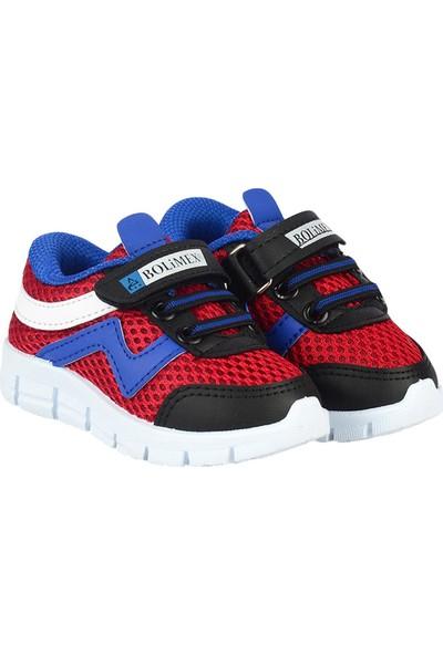Bolimex 3565 Kırmızı Cırtlı Erkek Çocuk Bebe Spor Ayakkabı