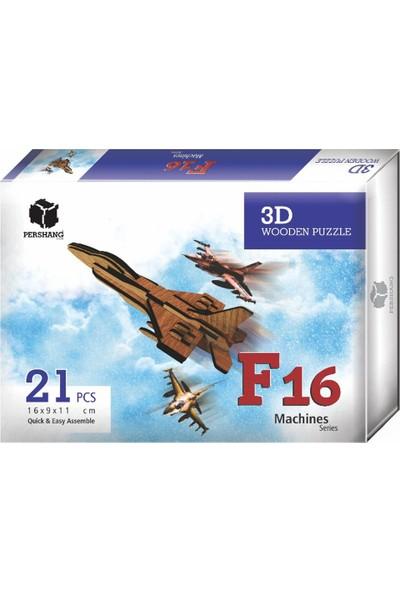 Pershang 2019012 F-16 3D Puzzle 21 Pcs