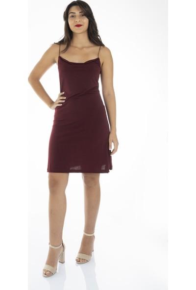 Garba Donna Kadın Degaje Yaka Askılı Elbise